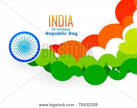 creative indian flag design made with circles in wave style vector illustration