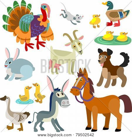 cartoon domestic animals