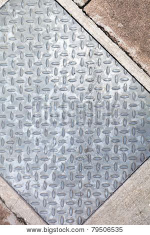 Sidewalk Metal Diamond Plate