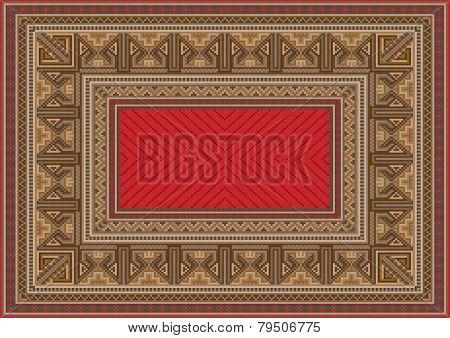 luxurious oriental carpet with original pattern