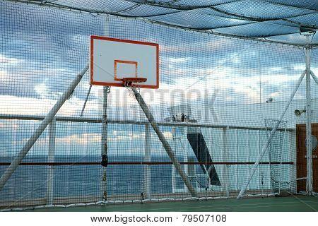 Basketball court at sea