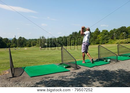 Golfing at the Range