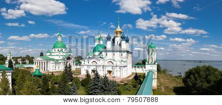 panorama of the ancient monastery in the city of Rostov
