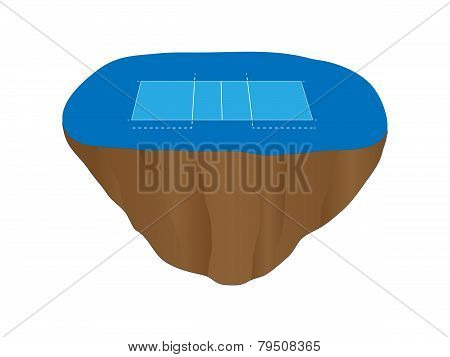 Volleyball Court Floating Island 4