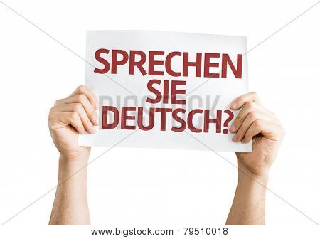 Do You Speak German? (in German) card isolated on white background