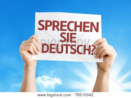 Do You Speak German? (in German) card with a beautiful day