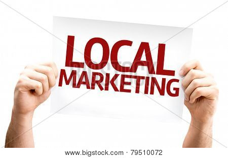 Local Marketing card isolated on white background