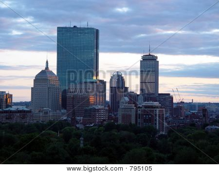 Boston Cityview Sunset