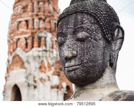 Ancient Buddha Statue At Mahatat Temple