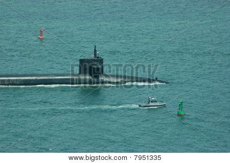 A U.S. Ballistic Missile Submarine w/Escort