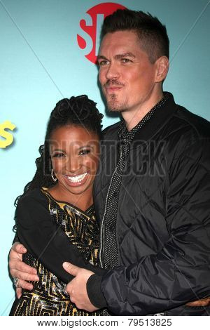 LOS ANGELES - JAN 5:  Shanola Hampton, Steve Howey at the Showtime Celebrates All-New Seasons Of