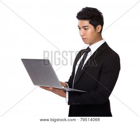 Businessman use of latop