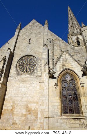Niort ancient gothic church, Aquitaine, France