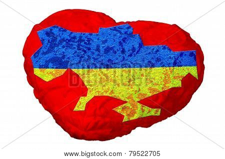 Heart Of Ukraine, Ukraine Heart With Map