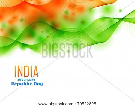 vector indian republic day design celebrated on 26 january made with wave
