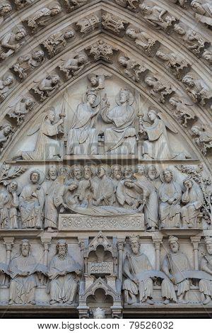Paris France - Notre Dame cathedral .