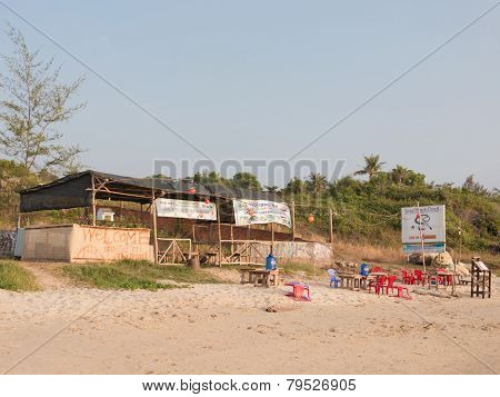 Beach Cafe On The Sand