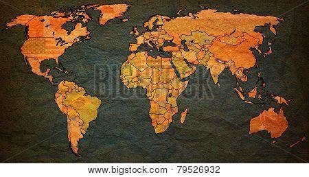 Nepal Territory On World Map