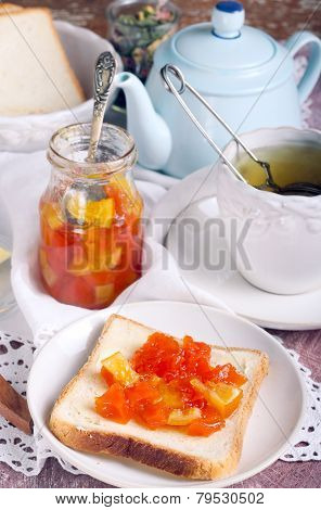 Citrus Marmalade On Bread