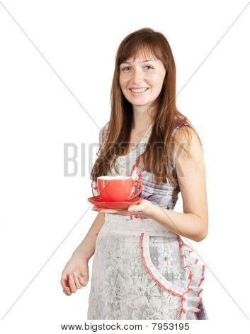 Girl With Tea Cu