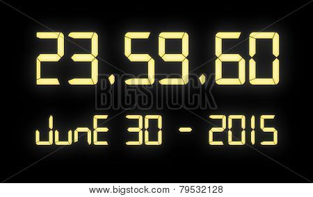 Digital Clock With 60 Seconds At Midnight