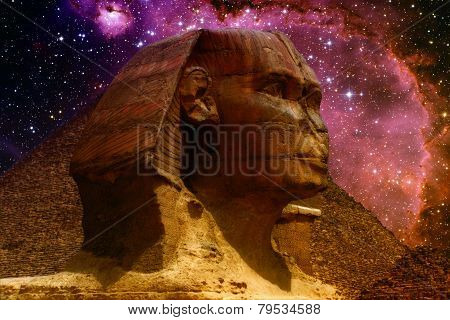 Sphinx And Small Magellanic Cloud (elements Of This Image Furnished By Nasa)