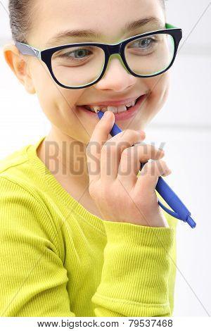 The joy of a child a lovely girl