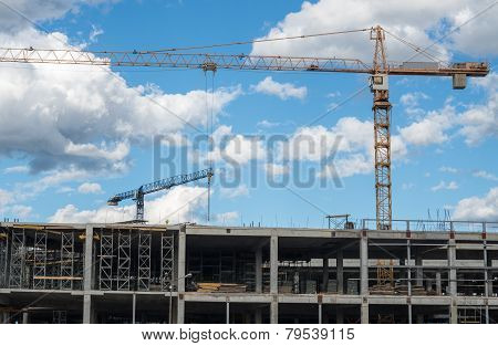 Building Framework And Tower Cranes