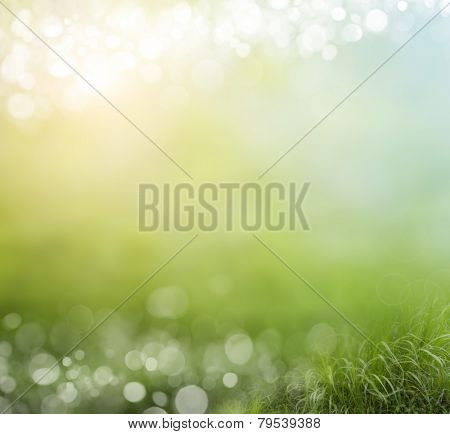 abstract background green bokeh circles
