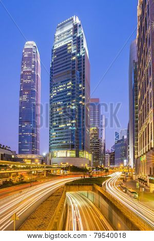 The Central District Landmark Of Hong Kong With The Ifc Tower.