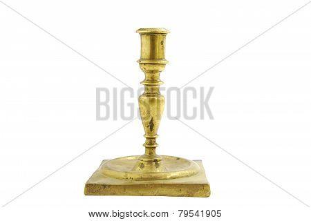 Old bronze candlestick holder
