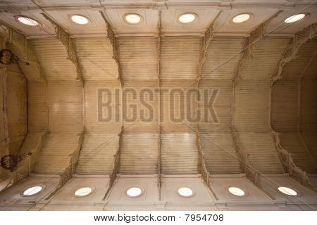 The ceiling of the temple