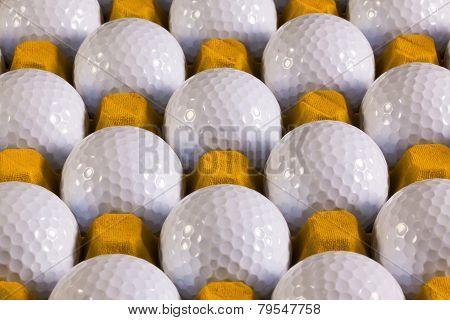 Golf Balls In Box For Eggs