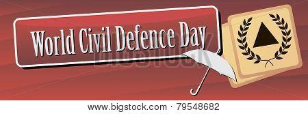 Banner World Civil Defence Day