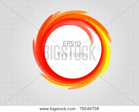 Fire frame for your design. Fully vector, enjoy!