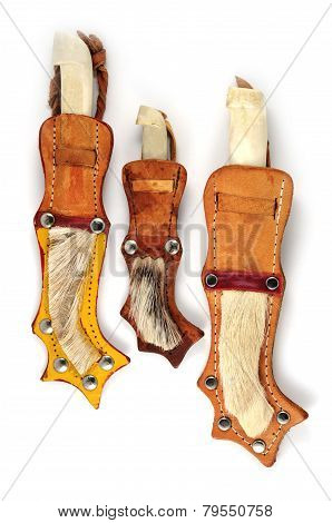 Three Traditional Finnish Knife Puukko