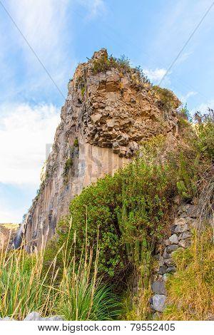 Beautiful Mountain View In Colca Canyon, Peru In South America