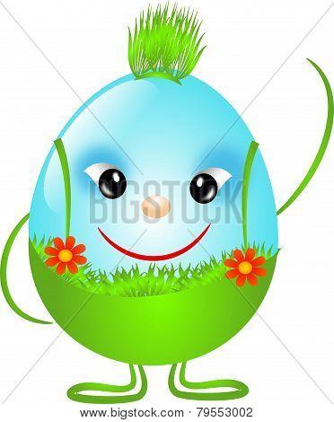 Blue Easter Boy