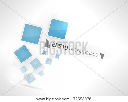 EPS10 vector hi-tech geometry chaos design against a white background