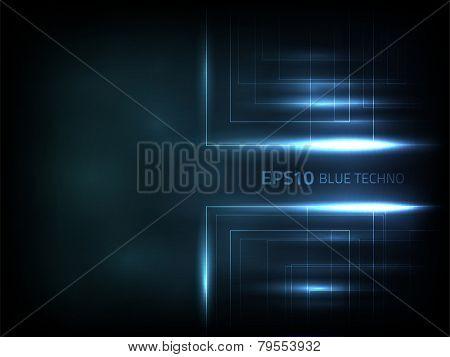 EPS10 vector blue techno
