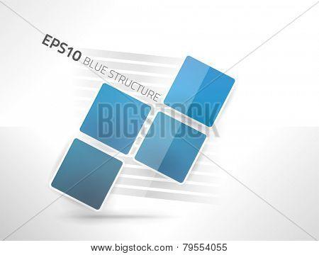 EPS10 vector blue structure design