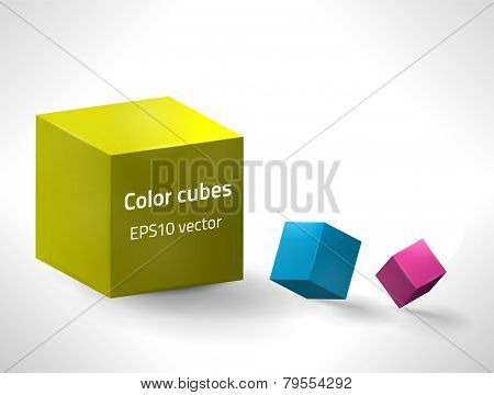 EPS10 vector cubes for your design