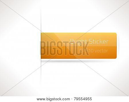 EPS10 vector bright sticker