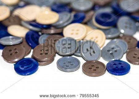 Assortment Of Buttons. Clothes Buttons