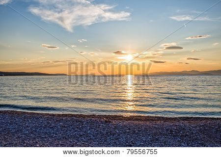 Supetar beach sunset
