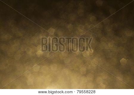 Yellow, Gold Pentagon Shape Abstract Background