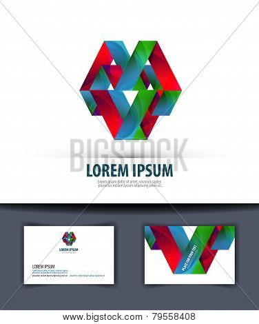 Business. Logo, icon, emblem, template, business card