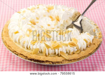 Banana Cream Pie On Pink Gingham