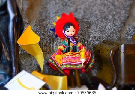 Craft doll, typical of Peru, Cuzco