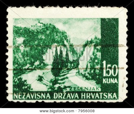 Old Stamp From Croatia